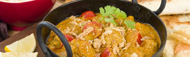 | Indische Hähnchenfleisch Gerichte