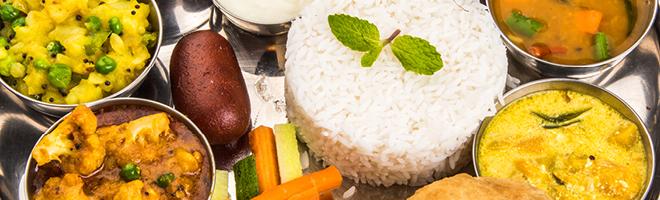 | Indische vegetarische Gerichte